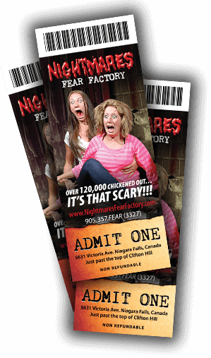 Nightmares Fear Factory Tickets