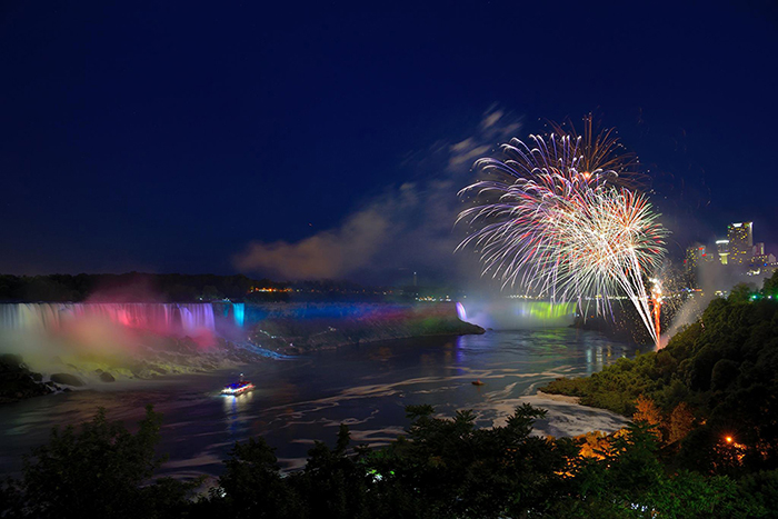 Fireworks over the Falls