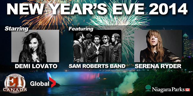 new years eve line up niagara falls 2014