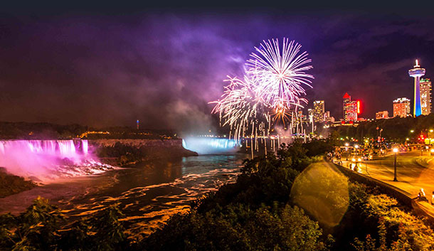 Niagara Falls Fireworks New Years Eve