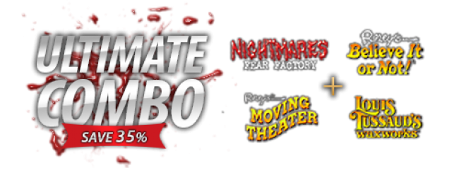 Nightmares Fear Factory Ultimate Combo Tickets