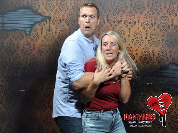 Couple in Nightmares Fear Factory on Valentine's Day